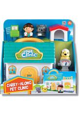Clinica de Mascotas con Personajes y Accesorios