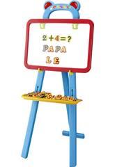 Material Escolar Lousa educativa com letras e números magnéticos