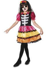 Disfraz XL Niña Catrina Esqueleto