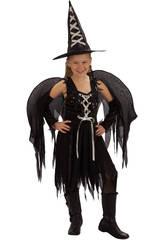 Déguisement sorcière ailles fille taille S