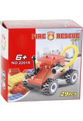 Fire Rescue Veicolo dei Pompieri 29 pezzi