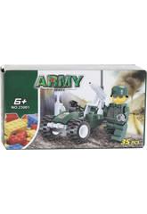 Véhicule Militaire avec Figurine 35 pièces