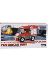 Brinquedo de Construção Camião de Bombeiros 85 Peças