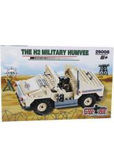 Militärfahrzeug Bau Spiel Humvee H2 195 Teile