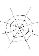 Tela de araña Blanca-Negra 150x150 cm.