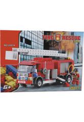 Jeu de Construction Camion de Pompiers 202 Pièces