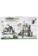 Jogo de Construção Base Militar Transformável 425 Peças