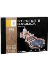 Puzzle 3D Place et Basilique Saint Pierre 56 pièces