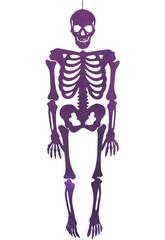 Esqueleto Purpura Eva Con Brillo 155 cm.