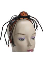 Serre-tête Araignée Orange 16x57x65 cm.