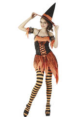 Costume Strega Halloween Donna XL