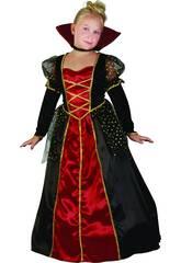 Disfraz Vampira Gótica de Niña Talla S