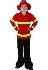 Déguisement de pompier pour garçon taille XL