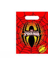 Spiderman Pack 6 Sacs de Fêtes
