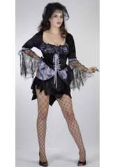 Kostüm Hexe Spinne Negra Frau Größe XL