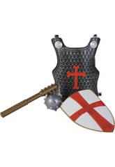 Accesorios Disfraz Surtido Set Cruzado Con Coraza, Escudo y Arma 3-9 Años