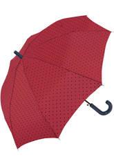 Paraguas Cadete Niña Topos Automático