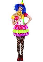Kostüm Farbiger Clown Frau Größe XL