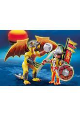 Playmobil Dragon Roca con Guerrero