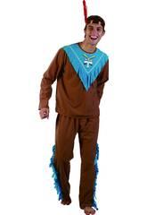 Disfraz Indio Hombre Marrón Talla XL