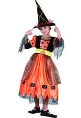 Maschera Strega Pumpkin Bambina Taglia L