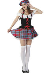 Disfarce Escocesa Sexy Mulher Tamanho XL