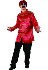 Déguisement Star du Rock Rouge Homme taille XL