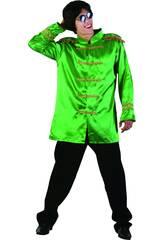 Maschera Star del Rock Verde Uomo Taglia L