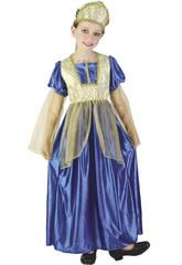Disfraz Princesa Real Azul Niña Talla L