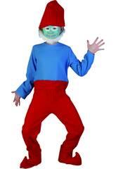 Maschera Gnomo Rosso Bambino Taglia L