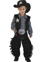 Maschera Cowboy Nero Bebè Taglia M