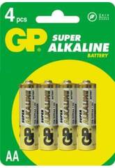 Blister 4 pile R6/AA Alcaline G.P