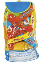 Set Beach Games 4 in 1 Rucksack 45x23x16 cm.
