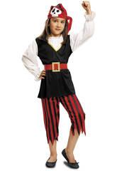 Disfraz Niña S Pirata Calavera con Pañuelo