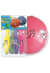 Bolsa de 4 globos colores Punch Ball Globolandia 5202