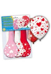 Sac de 8 ballons gonflables petits coeurs