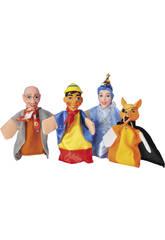 4 Marionnettes avec théâtre Contes pour Enfants