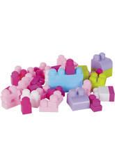Zainetto blocchi costruzioni Rosa 52 pezzi