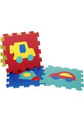 Tappeto Puzzle Veicoli gomma EVA 10 pz