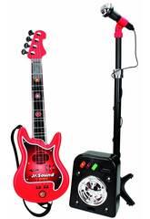 Conjunto Flash Micro, Bafle e Guitarra 4 Cordas Reig 844