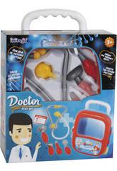 Conjunto médico de carrinho de mala