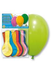 Borsa da 12 palloncini pastello opaco