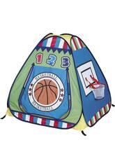 Maisonnette En Toile Panier Basket avec 100 boules de couleur,