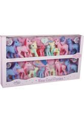 Famille Ponys 16 pièces avec Accessoires