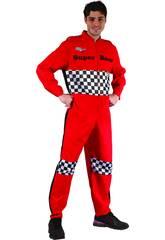 Disfraz Piloto de Carreras Hombre Talla XL