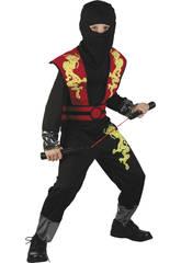 Maschera Drago Ninja Rosso Bambino Taglia XL