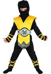 Maschera Ninja Giallo Bebè Taglia S