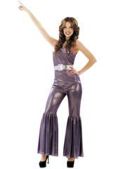 Disfraz Mujer S Disco Lila