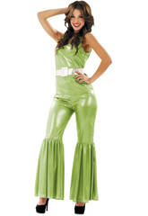 Disfraz Mujer S Disco Verde
