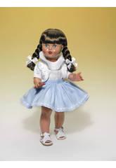 Mariquita Pérez Jupe Bleue ciel et veste à rayures